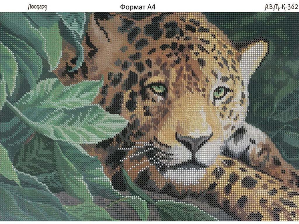 Схемы вышивки бисером леопард