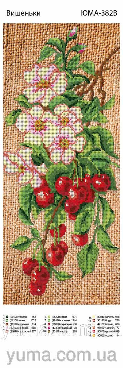 Схемы вышивки бисером вишня