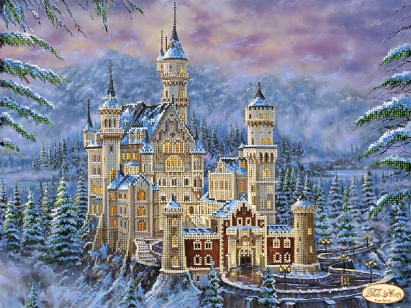 Замок нойшванштайн вышивка схема