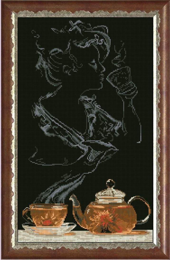Схемы вышивки крестом чайная фантазия