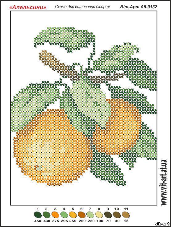 Схема апельсин вышивка