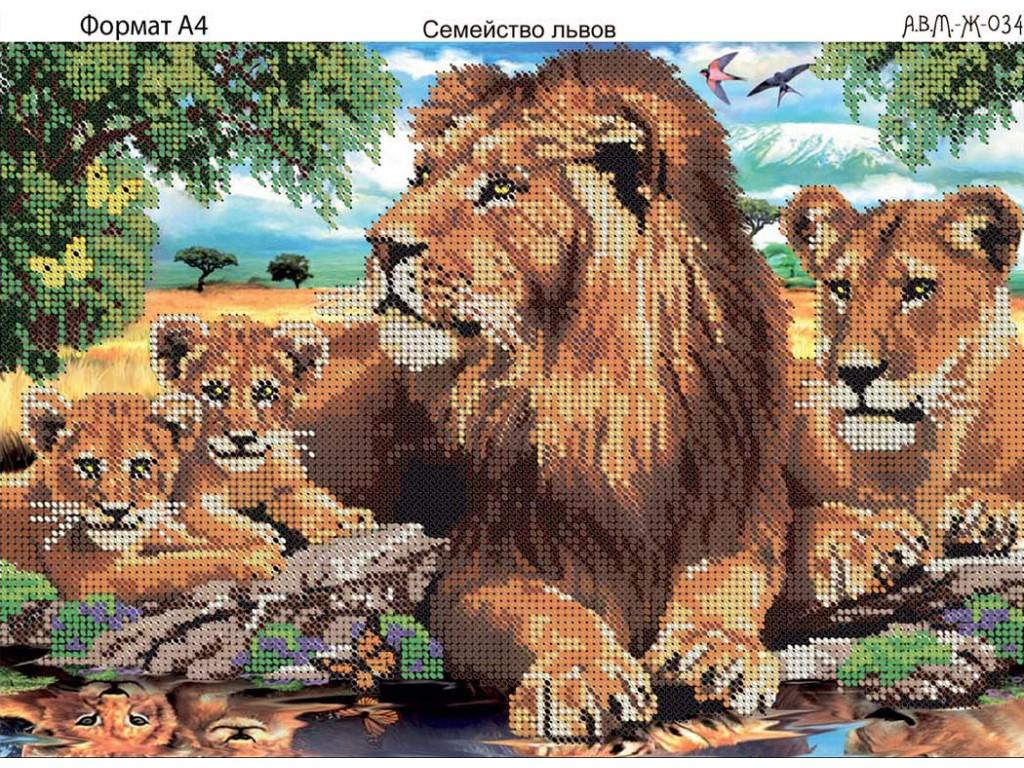 Вышивки схемы бисером льва