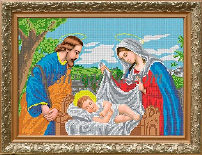Вышивка бисером иконы рождество