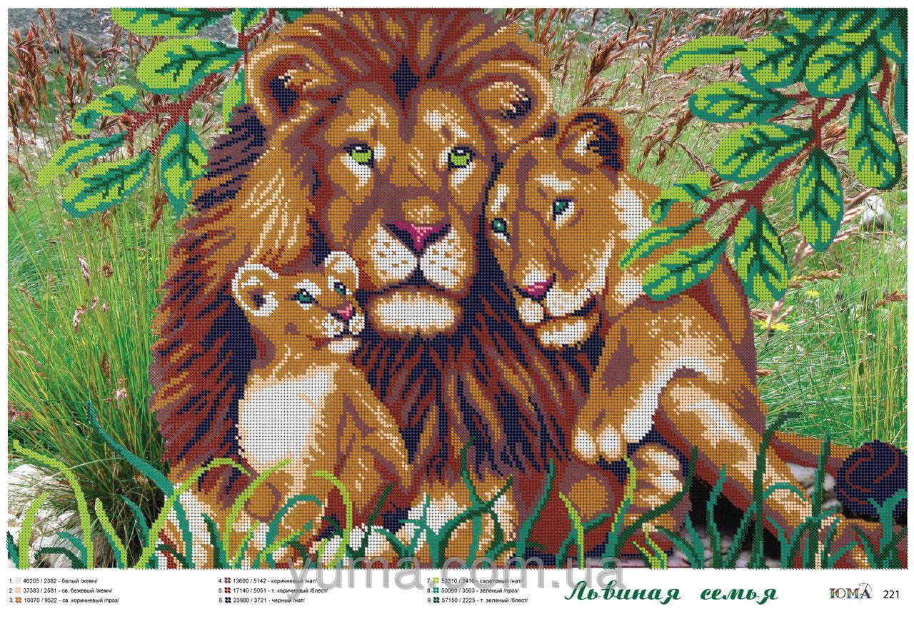 Схемы вышивки бисером лев