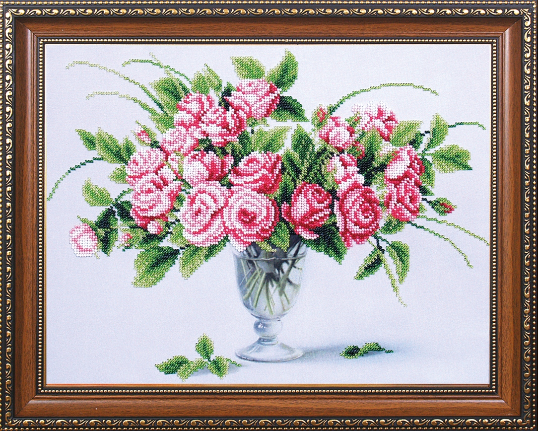 Набор для вышивки бисером розы
