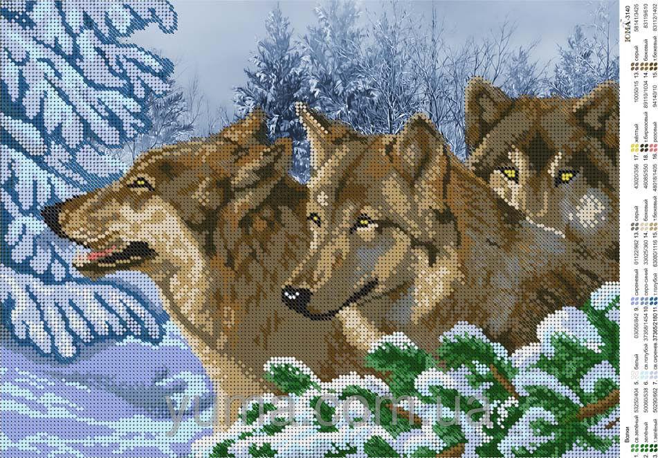Большие схемы вышивок крестом волки