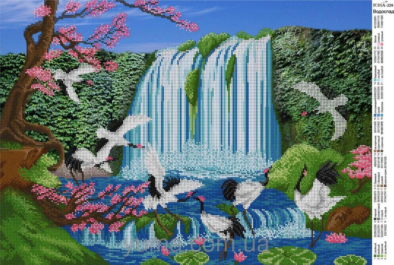 Схема вышивки водопада бисером