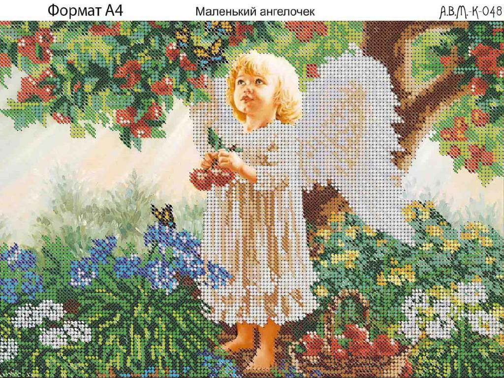Вышивка маленький ангелочек