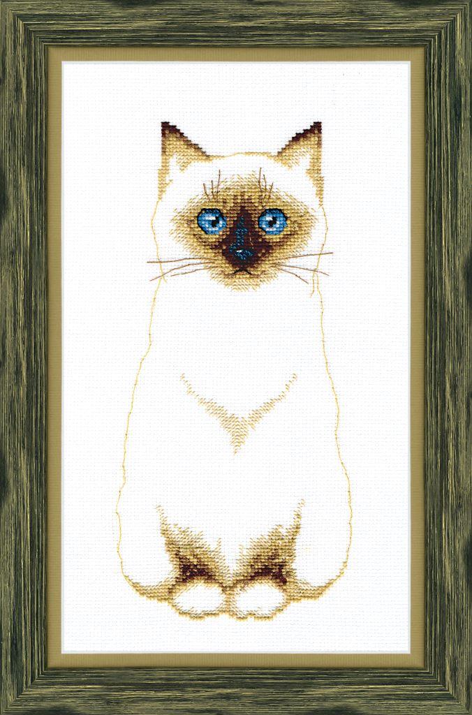 Вышивка схема сиамский кот
