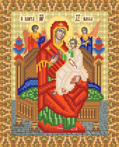 Всецарица икона вышивка крестом