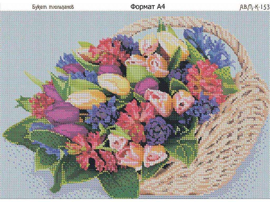 Схемы вышивки бисером тюльпанов