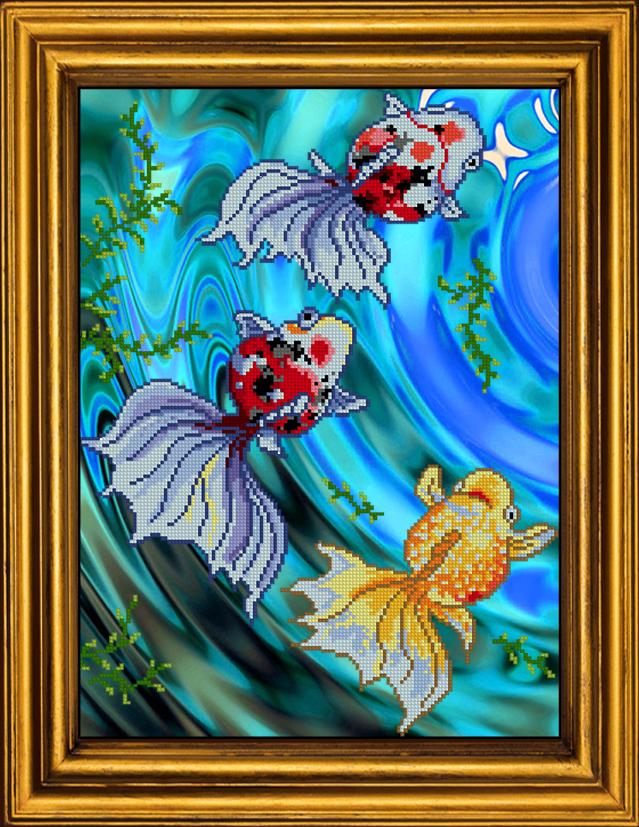 Вышивка бисером картины рыбка