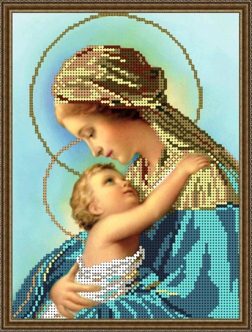 Мария с младенцем вышивка крестом