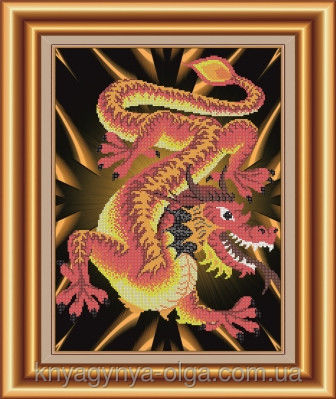 Вышивка бисером схема дракон