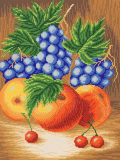 Схема вышивки бисером фруктов