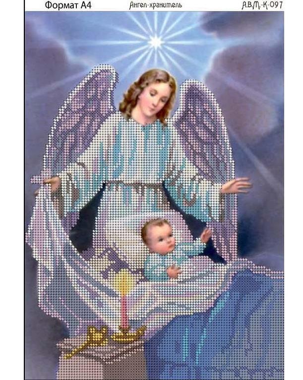Схема вышивки ангела хранителя бисером