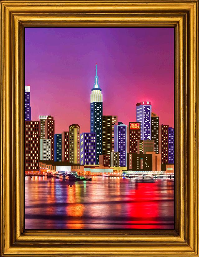 Нью йорк вышивка бисером