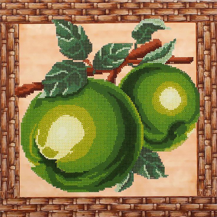 Яблочко крестиком схема