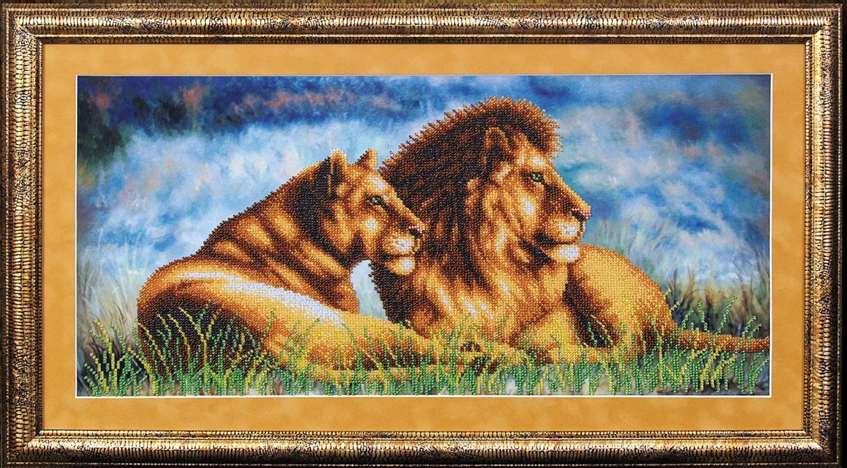 Львы вышивка бисером схемы