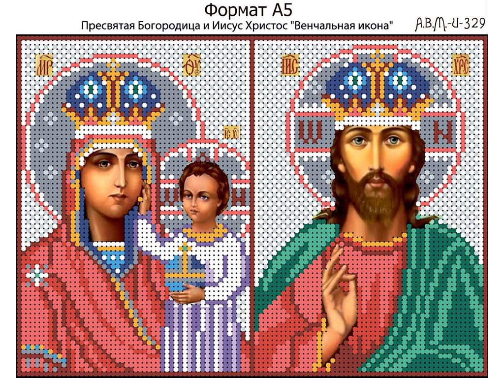 Схема вышивки бисером христос