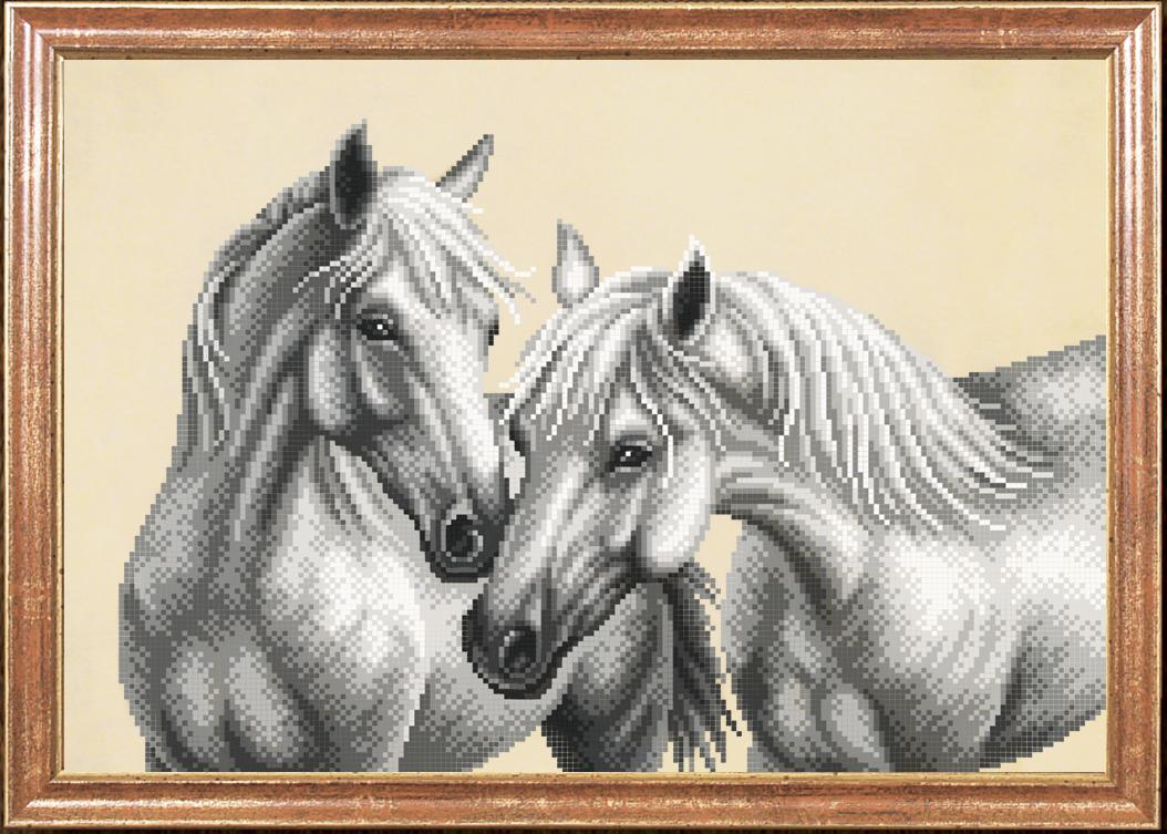 Схема для вышивки бисером лошади