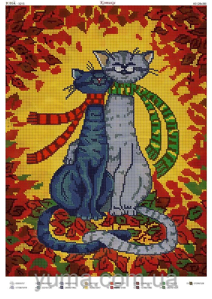 Коты вышивка бисером схемы