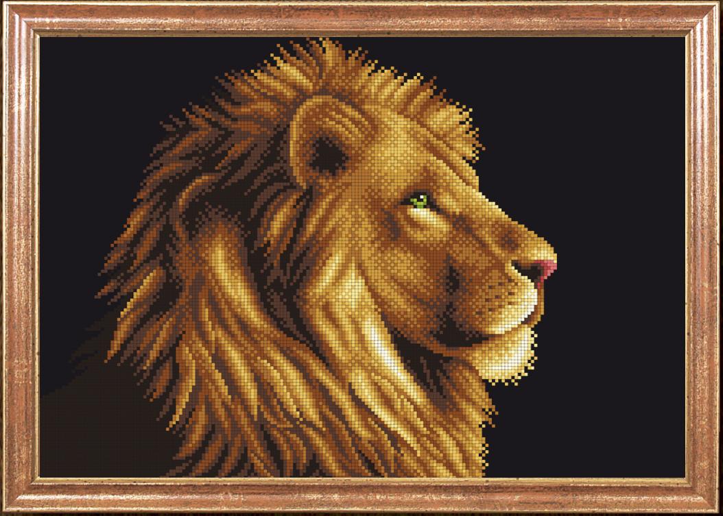 Вышивка схема лев бисера