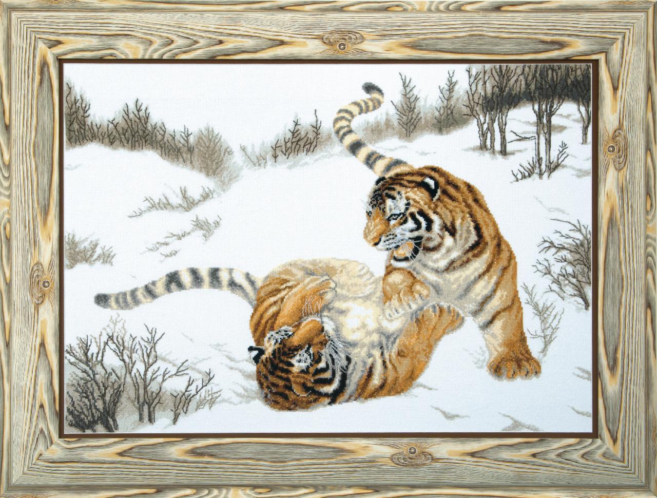 Вышивка крестом купить тигры