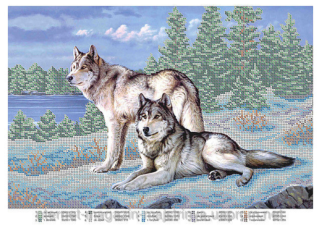 Маленькая схема волков
