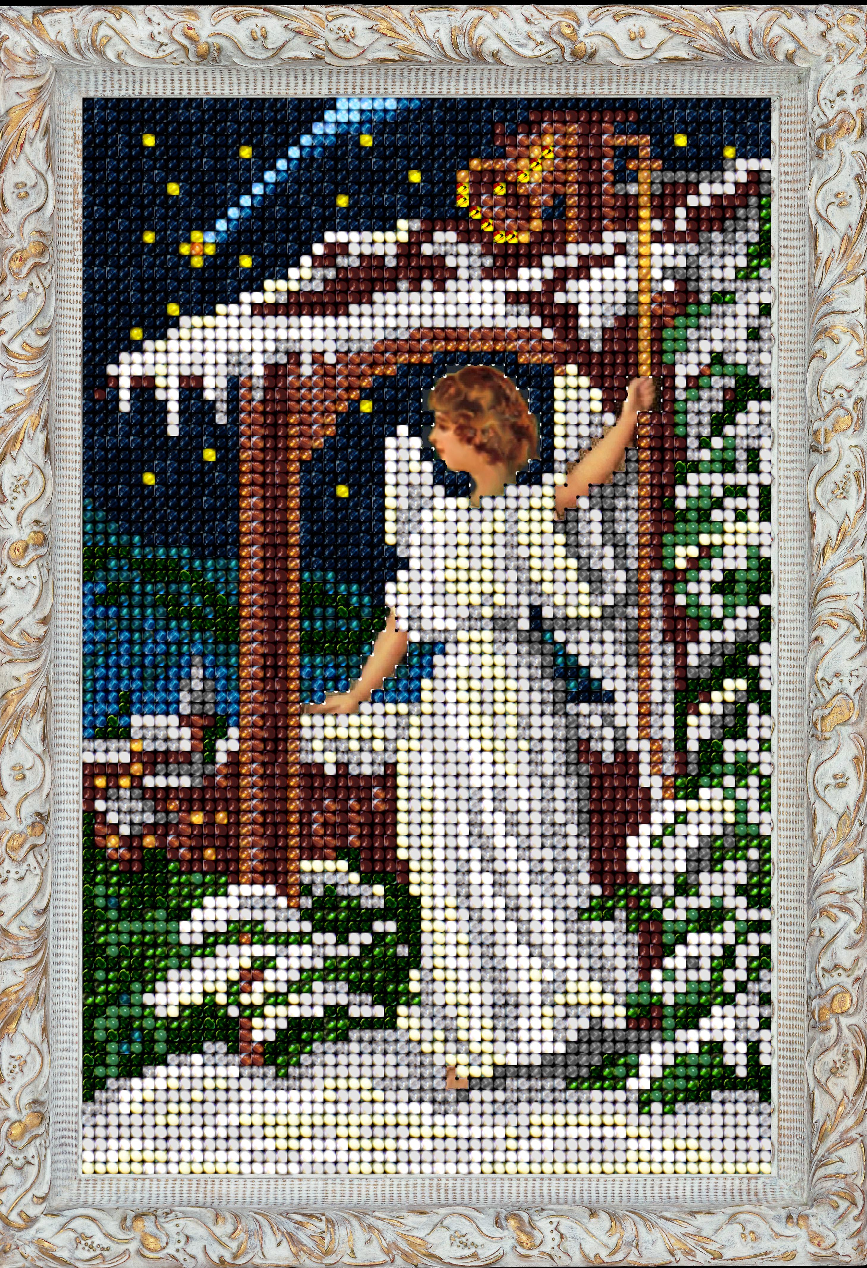 Схема вышивок рождественского ангела