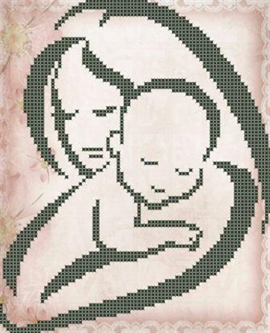 Схемы вышивки матери ребенком