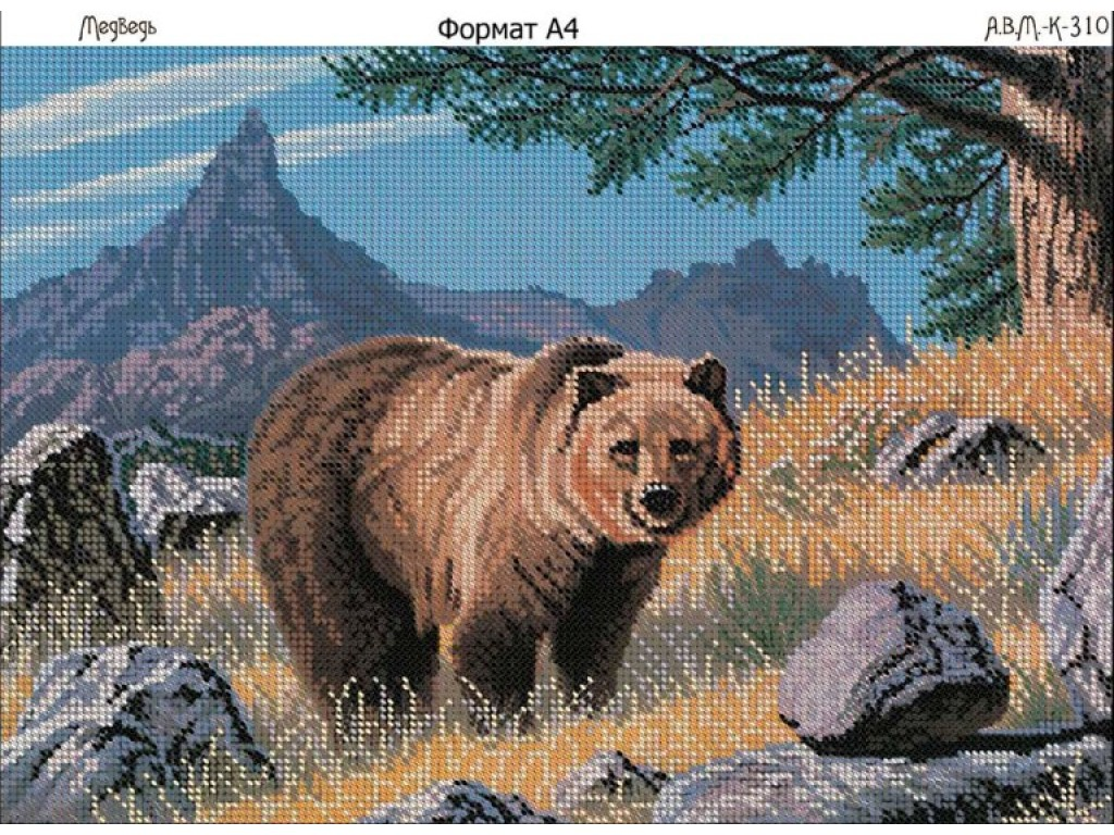 Вышивка гладью медведи