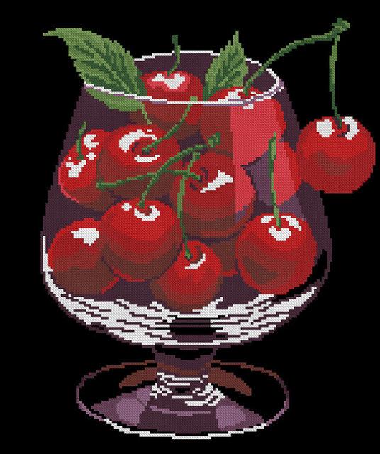 Вышивка натюрморты с вишням