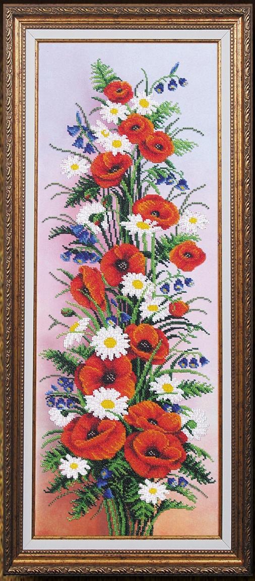 Вышивка бисером цветы маки купить ирис доставка цветов и радости новокузнецк