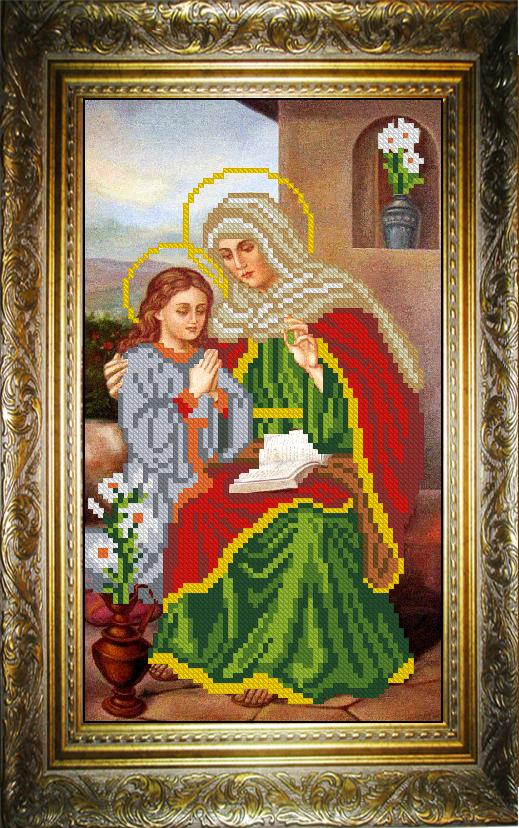 Вышивки бисером святая анна