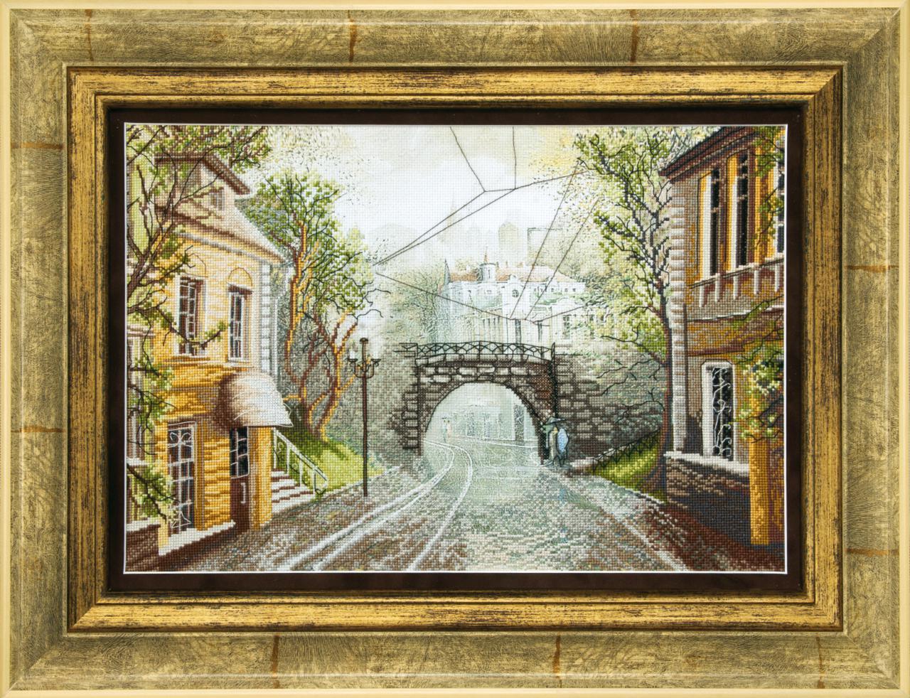 Старый мост схема для вышивки