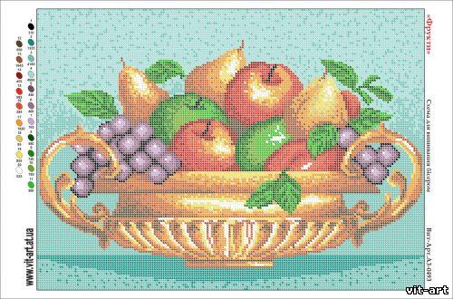 Схемы для вышивка бисером фрукты