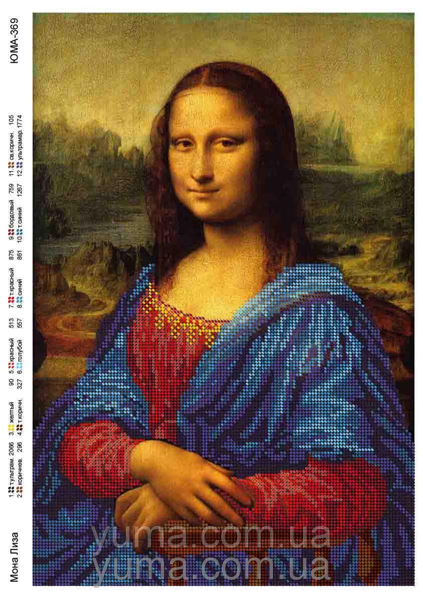 Мона лиза вышивка картина