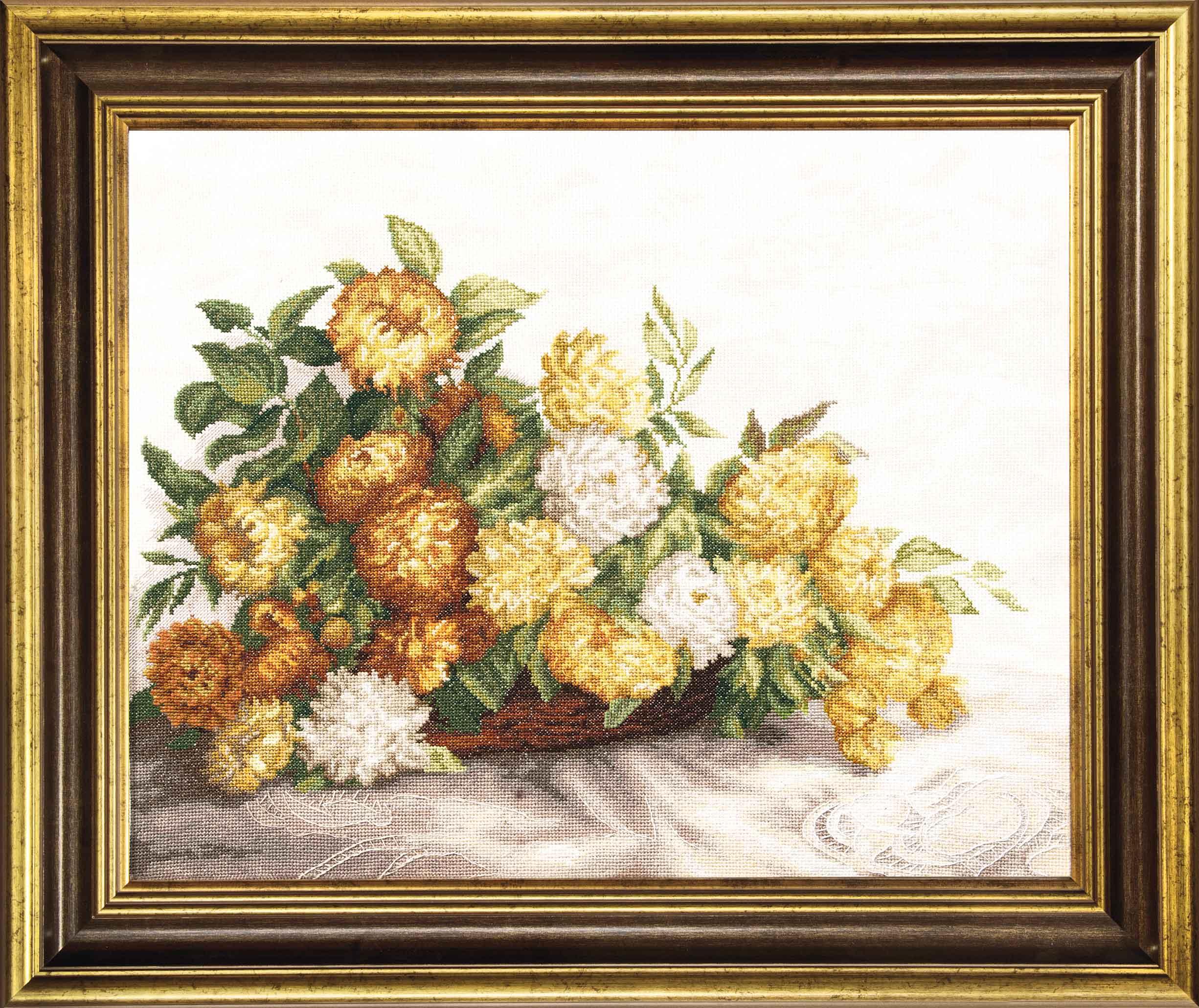Хризантемы вышивка крестом наборы