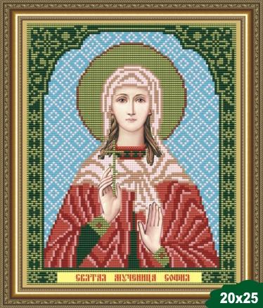 Вышивка иконы софия бисером