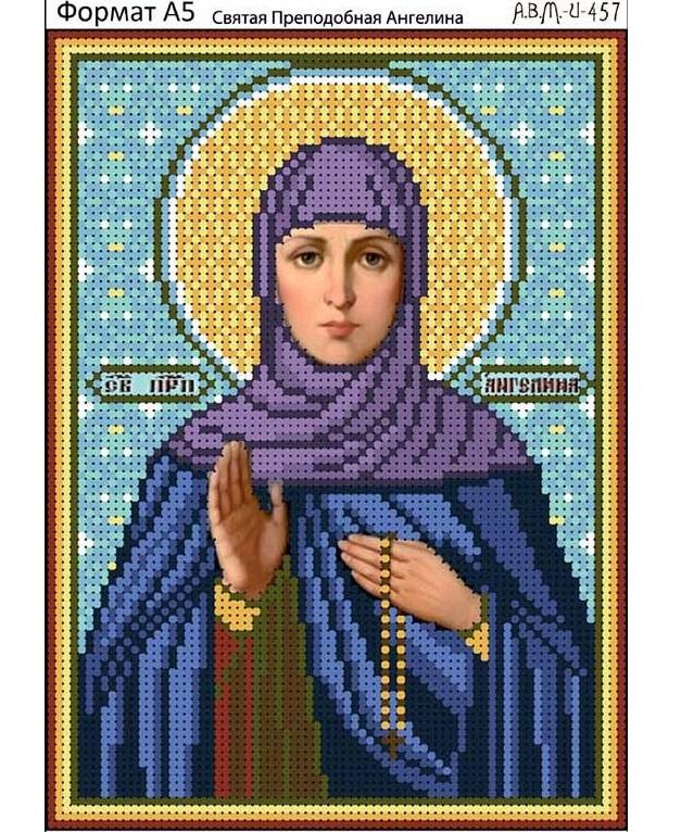 Икона ангелина вышивка бисером