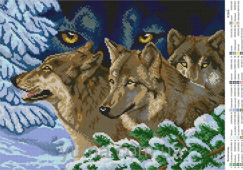 Волки вышивка бисером купить схему
