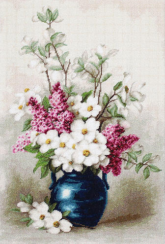 Вышивка цветок жасмин