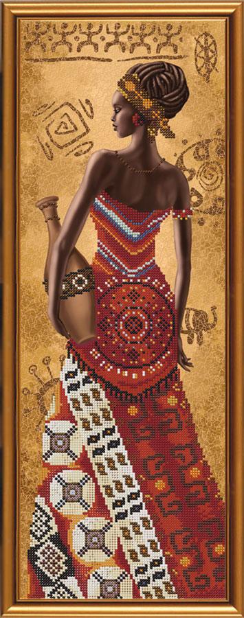 Вышивка из бисера африканка