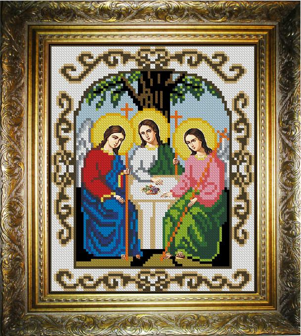 Икона троица бисером