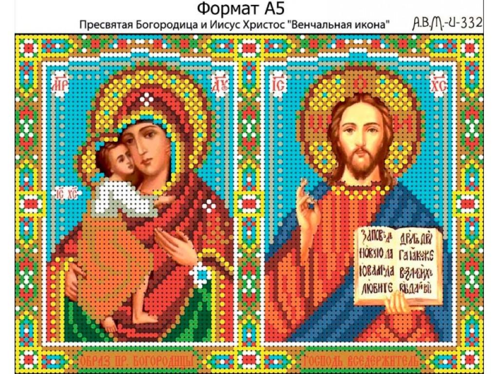 Схема вышивки икона богородица