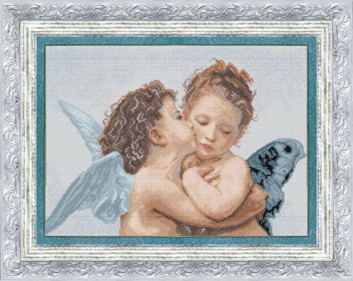 Набор вышивки крестом ангелочки