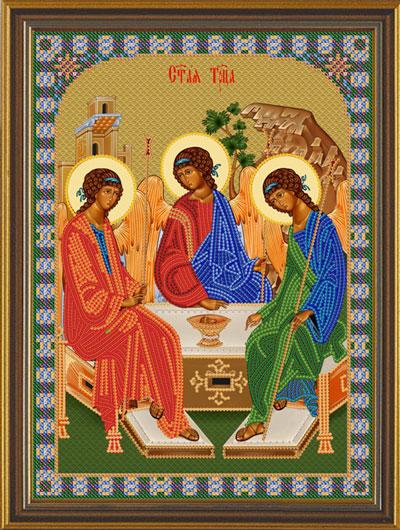 Вышивка из бисера икона святой троицы