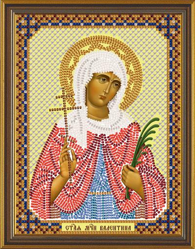 Вышивка иконы святой валентины