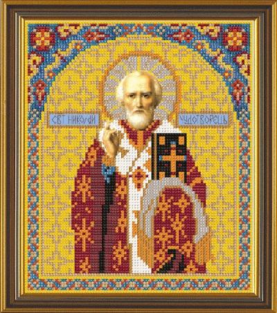 Вышивка бисером святой николай